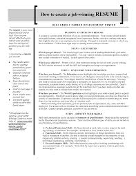 create a job resume eager world create a job resume e job winning resume and cover letter example written by loe13858