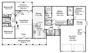 House Plan at FamilyHomePlans comCountry Farmhouse Ranch Traditional House Plan Level One