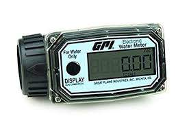 GPI 113255-4, 01N31GM Nylon Turbine <b>Water</b> Flowmeter with ...