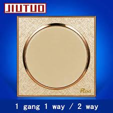 Jiutuo Wall Switch Panel,<b>champagne</b> Golden,Circular,Light Switch ...