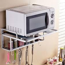 kitchen microwave shelf kitchen holder microwave oven shelf aluminum thickening kitchen rack c