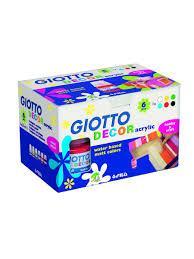 <b>Giotto</b> decor <b>acrylic</b> акриловые <b>краски</b> 25мл. 6цв. Fila. 3227400 в ...