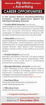 principal vice principal teachers pro jobs in the knowledge creative writer presenter video editor job in kpk national advertising marketing company