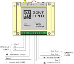 GSM-термостат <b>ZONT</b> H-1B 1