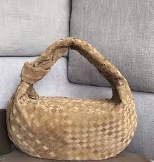 2020 New Soft Clutch With Knotted Handle In Woven Leather Sack ...