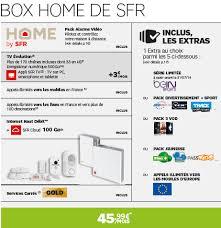 tarif box home de sfr box home de sfr pack