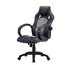giantex high back race car style bucket seat office desk chair gaming chair gray bucket seat desk chair