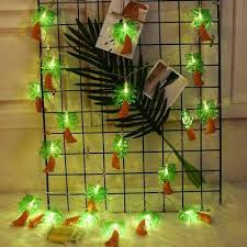 Coconut Palm Tree <b>String</b> Light Battery Powered <b>4M 20 LED</b> ...