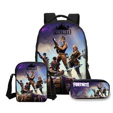 <b>VEEVANV</b> Anime fortnite battle royale Print Backpacks pencil case <b>3</b>