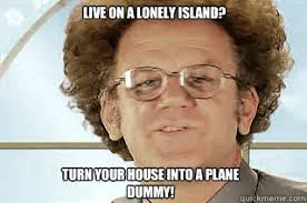 Live on a lonely island? Turn your house into a plane dummy! - Dr ... via Relatably.com