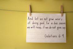 Image result for do not grow weary in doing good