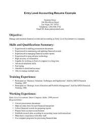 resume of skills resume accounting resume example template accounting