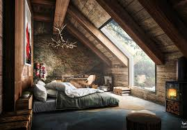 attic living room design youtube: rustic attic bedroom that features amazing forest view