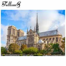 <b>FULLCANG diy</b> 5d <b>diamond</b> mosaic paris france notre dame ...
