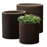 Купить Комплект <b>кашпо</b> для сада <b>Keter Cylinder Planters</b> в ...