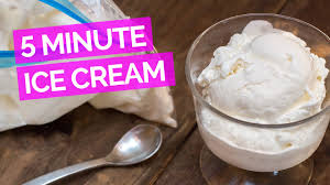 Homemade Ice Cream in 5 Minutes - YouTube