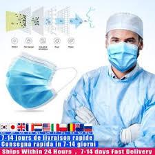 50Pcs Disposable Protective Mask 3 Layer Nonwove Ply ... - Vova
