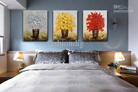 modern flower oil painting canvas thick oil abstract handmade home office wall art decor decoration best office art