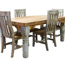 chair dining room tables rustic chairs: rustic turquoise colorwash dining table amp chairs