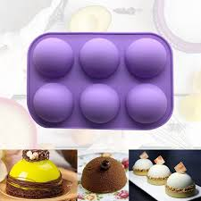 Half Sphere Silicone Soap Molds Bakeware <b>Cake</b> Decorating Tools ...