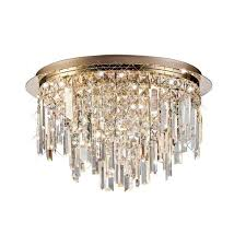 Volete <b>Crystal Round Ceiling Light</b> - Rose Gold | Diyas Lighting ...