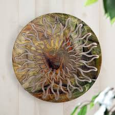 tree scene metal wall art: awesome d sun face for metal wall art decor tropical popular