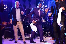 chris christie john mccain dance on stage jamie foxx at arizona senator john mccain and jamie foxx dance onstage at apollo in the hamptons at the