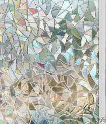 New <b>window film 3d</b> view frosted stained glass static cling <b>privacy</b> ...