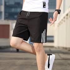 2020 Casual <b>Shorts</b> Men's <b>Summer Ice</b>-<b>silk</b> Sports Leisure Five ...
