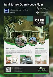 psd flyer templates psd eps ai indesign format real estate open house flyer template