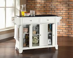 Portable Kitchen Island With Granite Top White Kitchen Island With Granite Top Quicuacom
