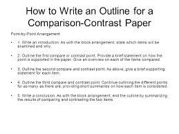 englishand honors englishcomposition notes thesis outline  how to write an outline for a comparisoncontrast paper pointbypoint
