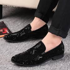 <b>LAISUMK</b> Shining Rhinestone Decoration <b>Fashion</b> Loafer Shoes ...