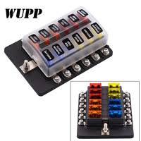 WUPP 12 Way 12V 24V Blade Fuse Box Holder with <b>LED</b> Warning ...