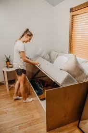<b>Sofa Bed with</b> Storage Build! : Woodbrew