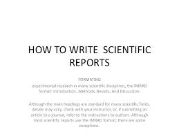 IMRAD Format   Explanation