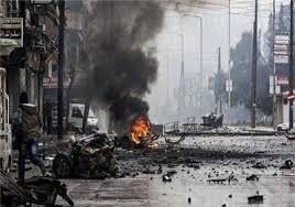 Image result for مبارزان فلسطینی و تروریستهای داعش