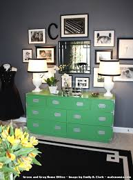 green and gray home office by emily a clark bright idea home office ideas
