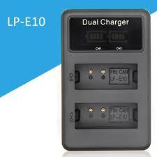For <b>Lp</b>-<b>E10 Usb</b> Battery Charger Dual Ports <b>Lcd Display</b> Charging ...