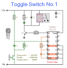 toggle switch no 1 cmos 4013 notes