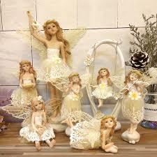 resin Angel sculpture <b>Beautiful Girl</b> Love music play the vilion <b>Flower</b> ...