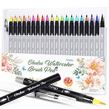 <b>Watercolor</b> Brush Pens, Ohuhu <b>20 Colors</b> Water <b>Color Painting</b> ...
