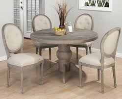 Round Back Dining Room Chairs Buy Jofran Burnt Grey Round Pedestal Dining Table In Solid Oak 856