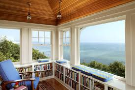 spectacular views home office traditional decorating ideas with vaulted ceiling reading nook bedroom home office view