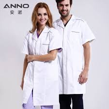 <b>ANNO</b> Short Sleeve Lab Coat White <b>Medical Clothing Hospital</b> ...