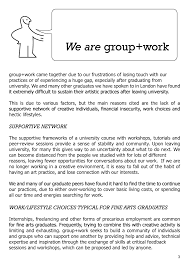 live learn work create guide to setting up artist led spaces live learn work create we are group work page 3