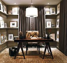 masculine home office banker office space