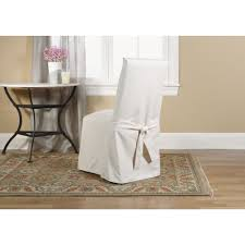 Linen Dining Room Chair Slipcovers French Provincial Dining Chair With Washable Linen Slipcover