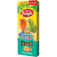 <b>Happy Jungle Палочки для</b> птиц с мёдом и яйцом 90 гр купить ...