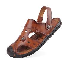 China Leather Sandals <b>2019 Summer New Leather</b> Beach Shoes ...